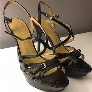 Nine West Black Patent Leather Heels Size 9.5
